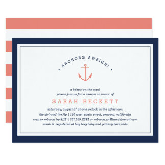 Anchors Aweigh | Nautical Baby Shower Invitation