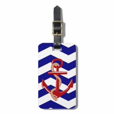Anchors Aweigh Nautical Travel Luggage Tag