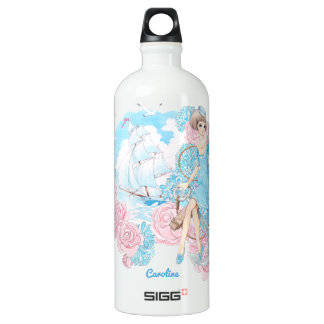 Anchors Aweigh (navy) Aluminum Water Bottle