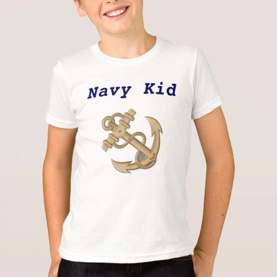 Anchors Aweigh Navy Kid Military  Tee Shirt