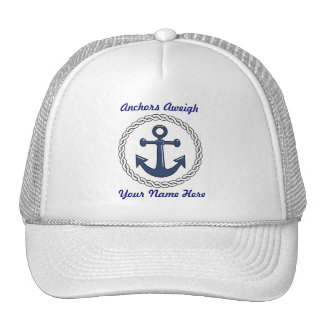 Anchors Aweigh Personalized hat