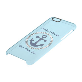 Anchors Aweigh Personalized Uncommon Clearly™ Deflector iPhone 6 Case