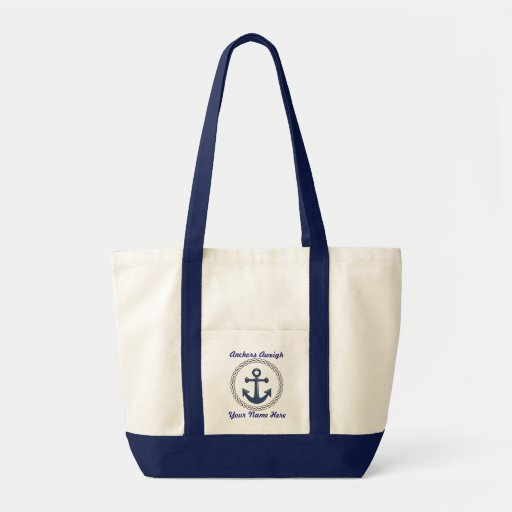 Anchors Aweigh Personalized Tote Tote Bag