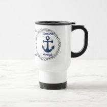 Anchors Aweigh Personalized Travel Mug