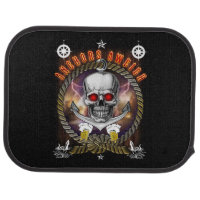 Anchor's aweigh pirate skull with Beer Car Mat