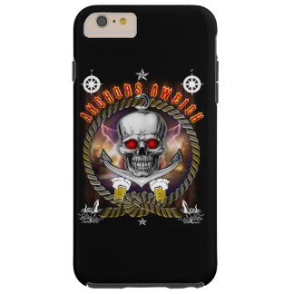 Anchor's aweigh pirate skull with Beer Tough iPhone 6 Plus Case