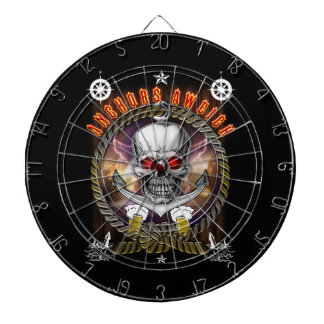 Anchor's aweigh pirate skull with Beer Dart Board