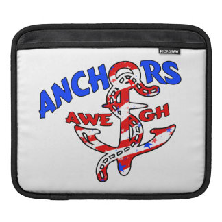Anchors Aweigh Red White Blue Stars Stripes Sleeve For iPads