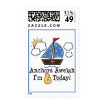 Anchors Aweigh Sailboat 6th Birthday Stamps