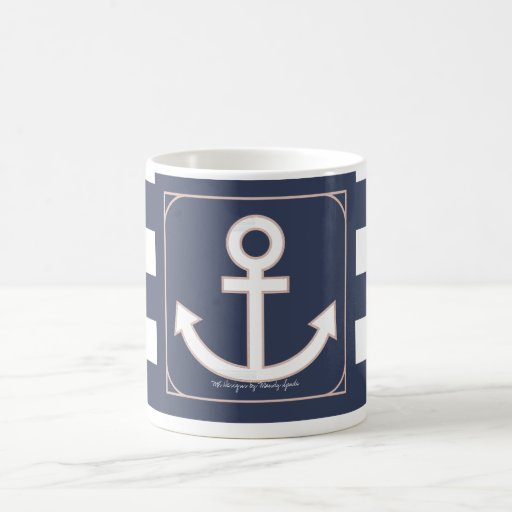 Anchors Aweigh Seafarer Mug in Nautical Navy