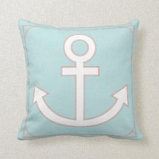 Anchors Aweigh Seafarer Pillow in Caribbean