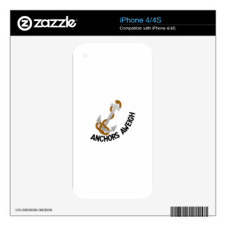 Anchors Aweigh Skins For iPhone 4