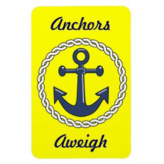 Anchors Aweigh Yellow Stateroom Door Marker Rectangular Photo Magnet