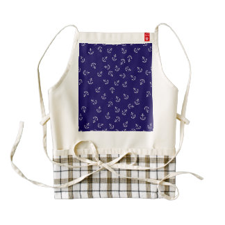 Anchors Gone Wild Zazzle HEART Apron