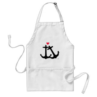 Anchors In Love Adult Apron