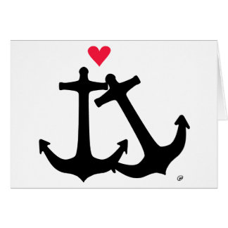 Anchors In Love Card