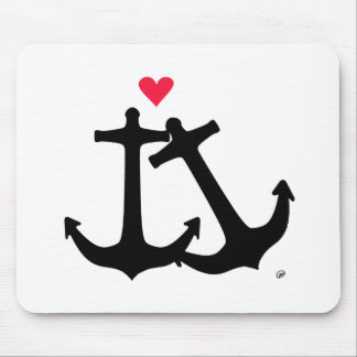 Anchors In Love Mouse Pad