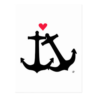 Anchors In Love Postcard