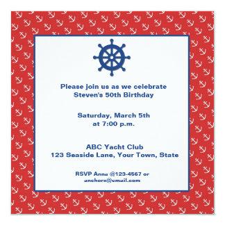 Anchors, Nautical Card