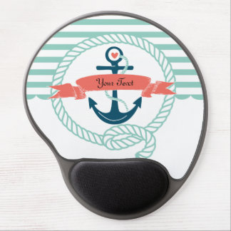 Anchors Nautical Gel Mouse Pad