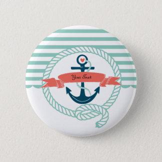 Anchors Nautical Pinback Button