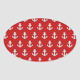 Anchors Oval Sticker