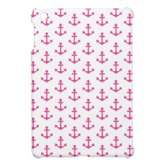 Anchors Pattern Nautical Hot Pink White Sailor Cover For The iPad Mini