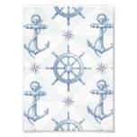 Anchors & Ship Wheel Pattern Art Photo