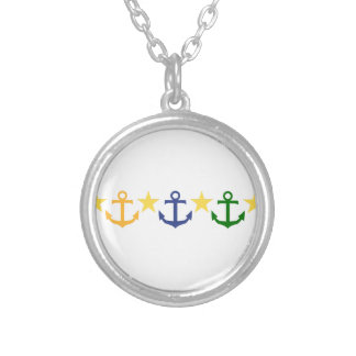 Anchors Silver Plated Necklace