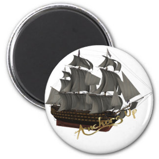 Anchors Up 2 Inch Round Magnet