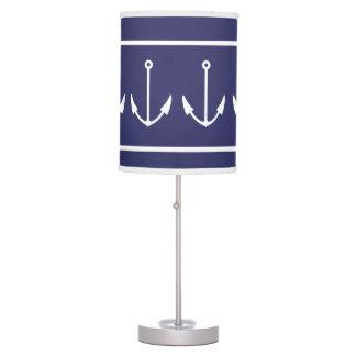 ANCHORS White on blue Desk Lamp