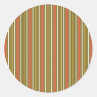 Anchuras multi verticales naranja y cal de las pegatina redonda
