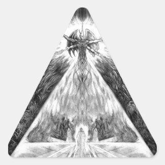 Anciano Godz de GOTHRONOMICON Calcomanías De Trianguloes Personalizadas
