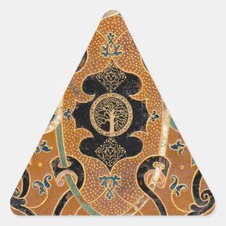Anciant Book Designs Triangle Sticker