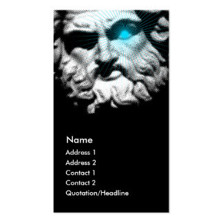 Ancient Abstract Profile Card Business Card Template