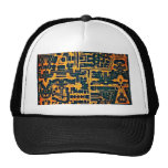 Ancient abstract trucker hats
