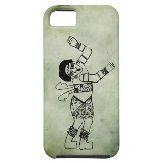 ancient african tribal symbols linocut iPhone SE/5/5s case