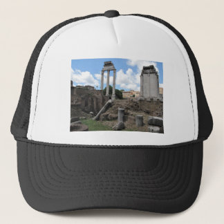 Ancient Agora temple pillar ruins Trucker Hat