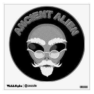 Ancient Alien Newsprint Wall Sticker