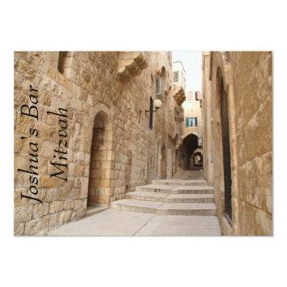 Ancient Alley in Jewish Quarter, Jerusalem 5x7 Paper Invitation Card