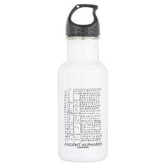 Ancient Alphabets 18oz Water Bottle