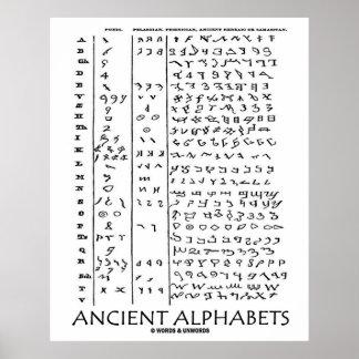 Ancient Alphabets (Ancient Languages) Poster