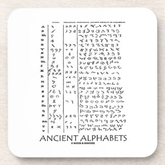 Ancient Alphabets Beverage Coasters
