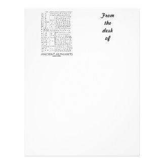 Ancient Alphabets Letterhead Template