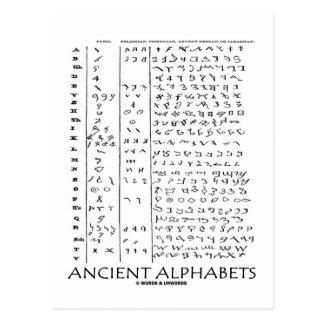 Ancient Alphabets Postcard