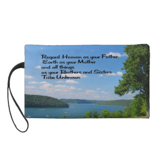 Ancient American Indian proverb Wristlet