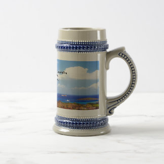 Ancient American Indian proverb Beer Stein