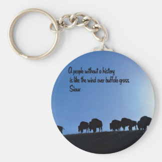 Ancient American Indian proverb Keychain