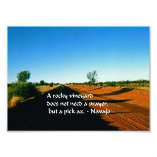 Ancient American Indian proverb Photo Print