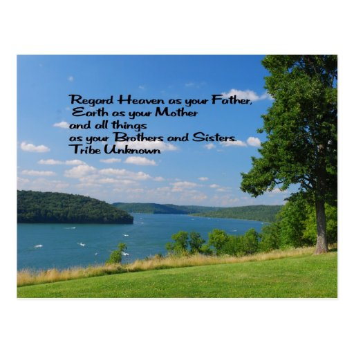 Ancient American Indian proverb Post Card